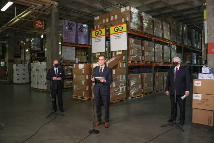 Los Angeles Mayor Welcomes First Shipment of N95 Masks from Honeywell
