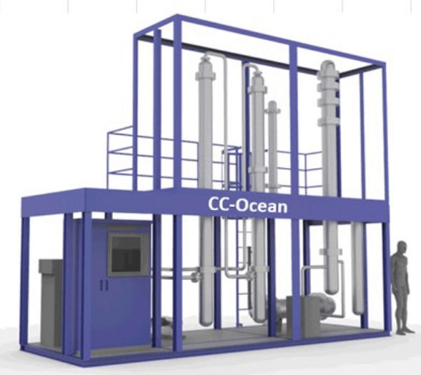 """""""K"""" Line Launches World's First Small-scale CO2 Capture Plant on Vessel"""