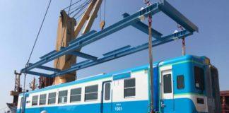 """K"" Line Delivers New Railway Coach to Myanmar"