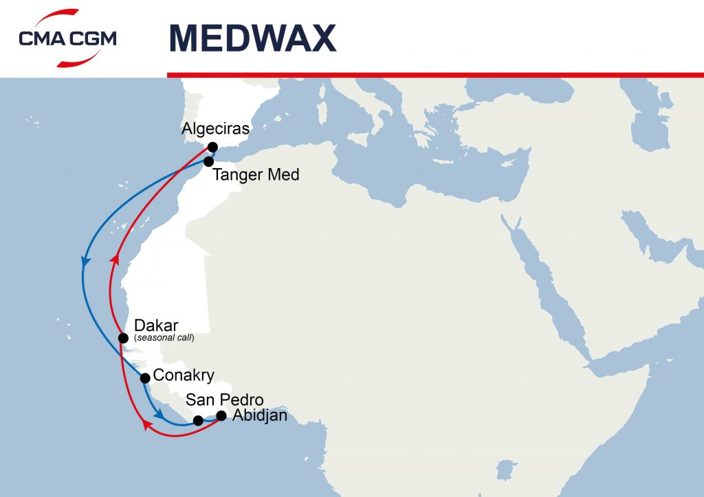 medwax cma cgm service map